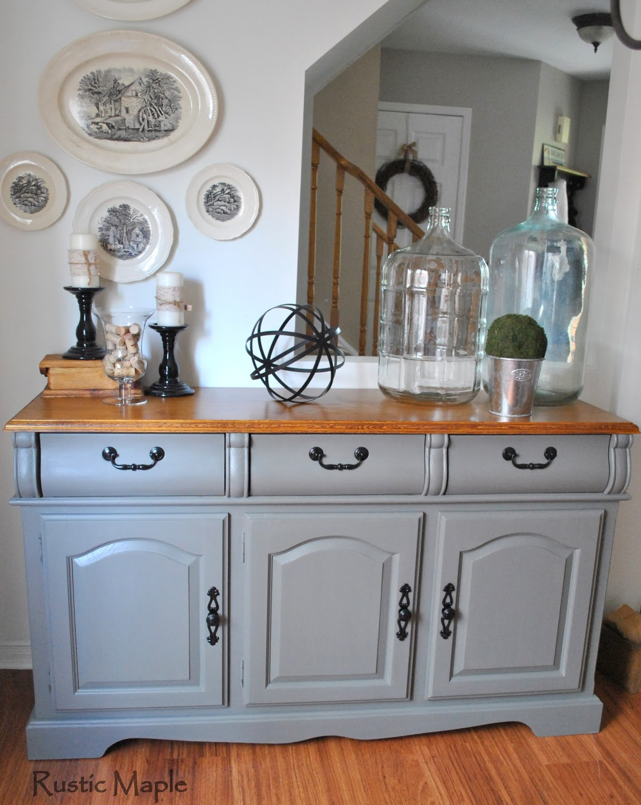 Painted Buffet In Country Chic Paints Cobblestone