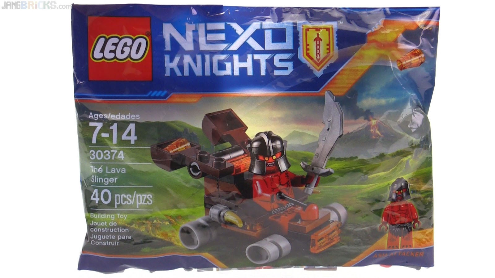 Lava Polybag Review Slinger Knights Nexo Lego 0ZOPXNnkw8
