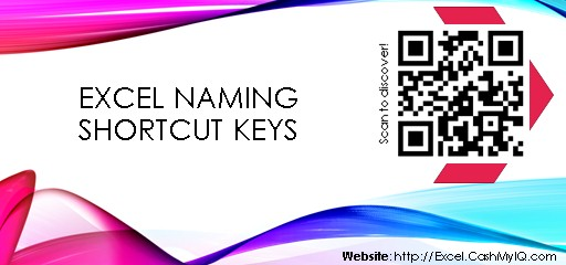 EXCEL NAMING SHORTCUT KEYS