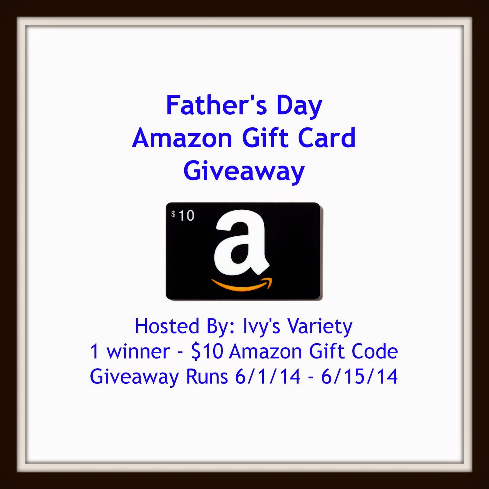 Amazon Gift Code Father's Day Giveaway
