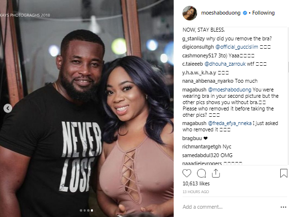 Ghanaian Actress, Moesha Boduong Shares On-Bra And Braless Photo At An Event, Fans React