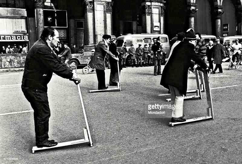 1973, choc pétrolier, roule trottinette