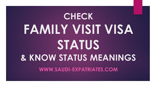 FAMILY VISIT VISA STATUS MESSAGE