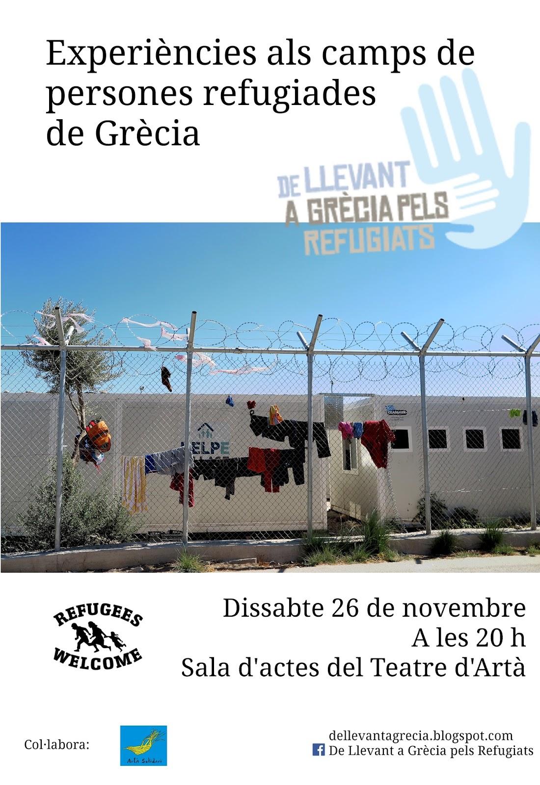 Experiències als camps de persones refugiades de Grècia (26-11-16)
