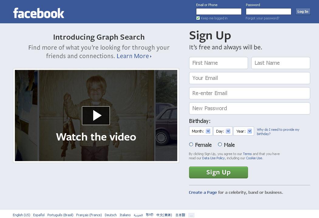 Www Facebook Login Cybergift Us