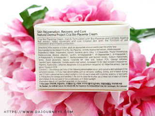 [Review] Natural Derma Cica Bio-Placenta Cream