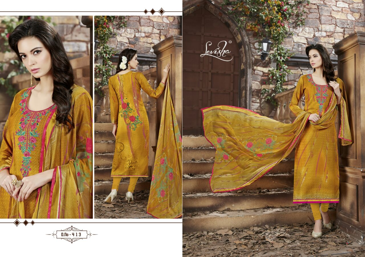 Rashi – Pashmina Digital Printed With Embroidery Salwar Suit