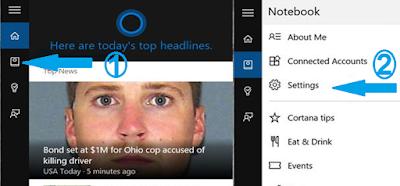 كيفية تفعيل Cortana على الويندوز