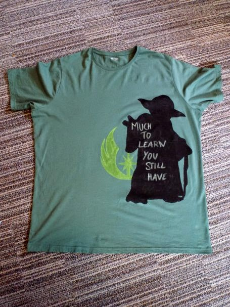 Yoda Shirt mit Spruch: Much to learn you stil have