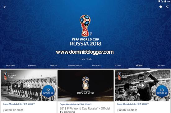 App oficial Mundial de Rusia 2018