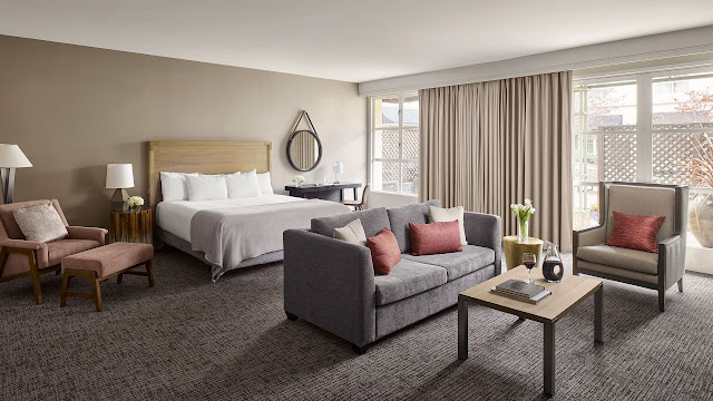From your room at the Hyatt Regency Sonoma Wine Country, view the Santa Rosa Creek and landscape or the courtyard, garden, or pool area, with some rooms offering private patios and balconies.