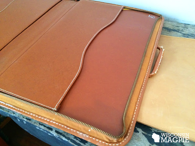 leather briefcase and portfolio collection