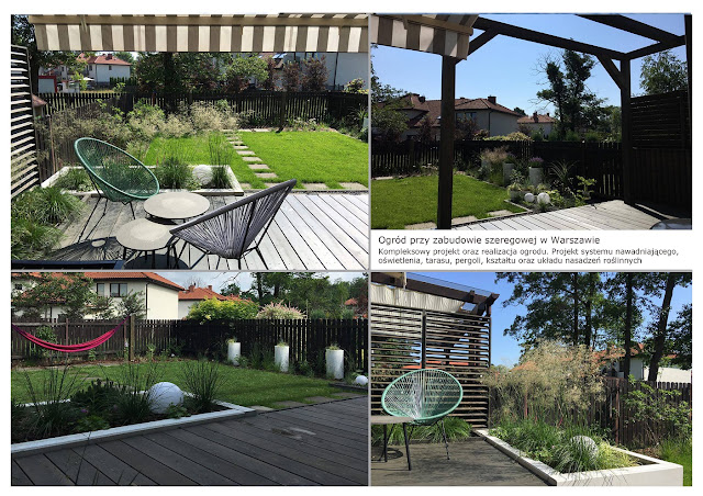 małe ogrody projektowanie warszawa