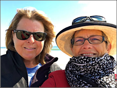 March 22, 2019 At a new beach with Carla girls day out.