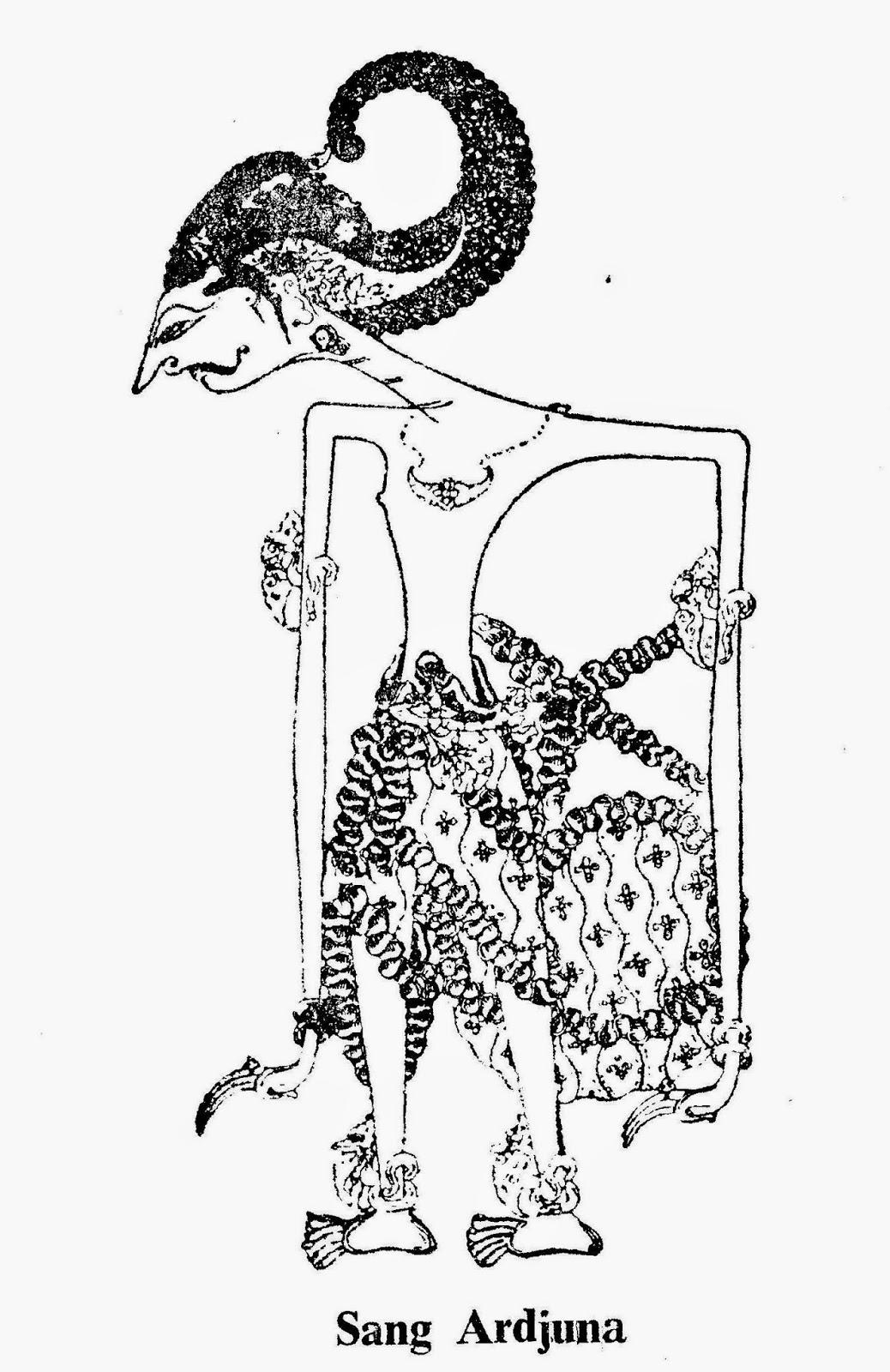 Cara Menggambar Wayang Arjuna Ki Dalang Rohmad Hadiwijoyo