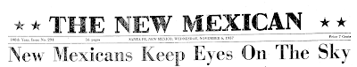 New Mexicans Keep Eyes On The Sky (Header) - The New Mexican 11-6-1957