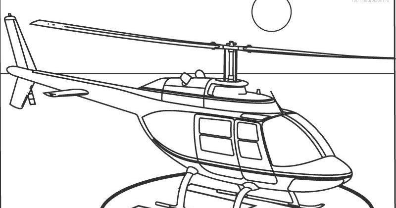 Desenhos Para Colorir: Helicóptero