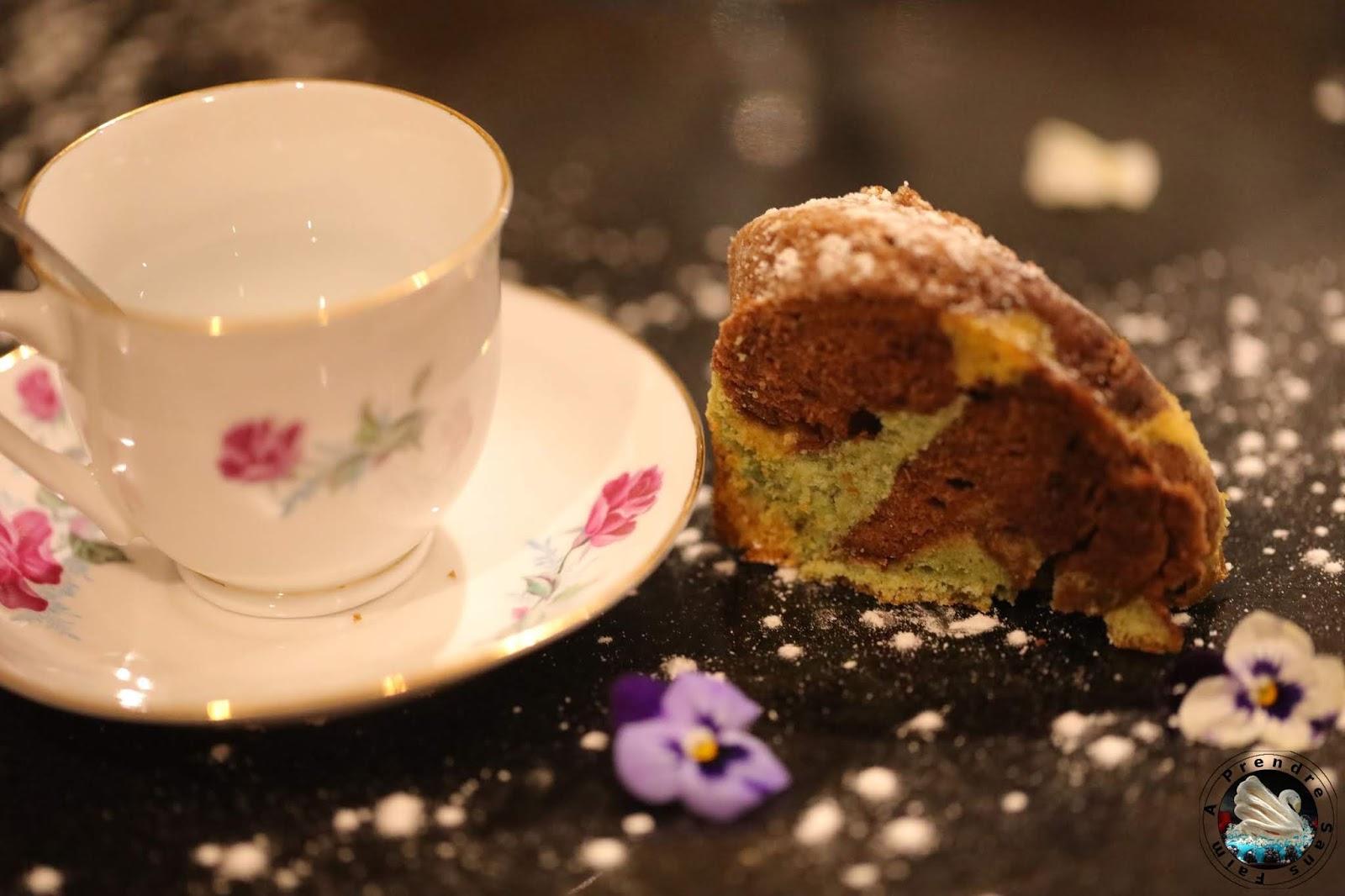 Bundt cake vanille chocolat pistache