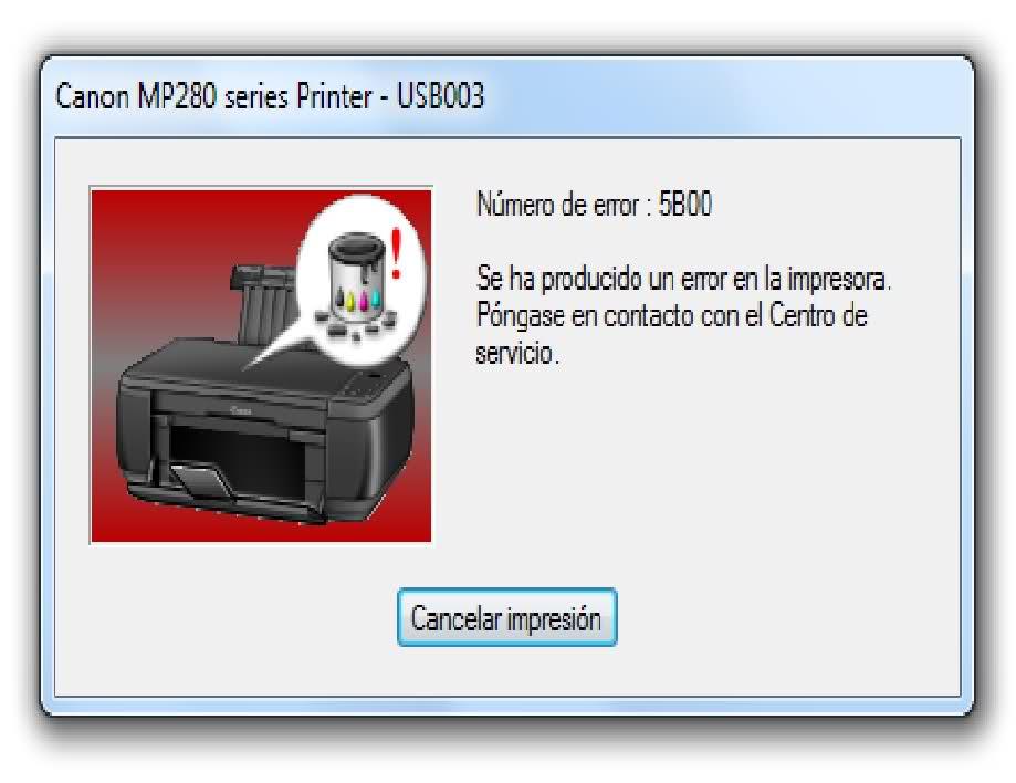 Reseteador Canon ServiceTools para Impresora Canon Mp250 y