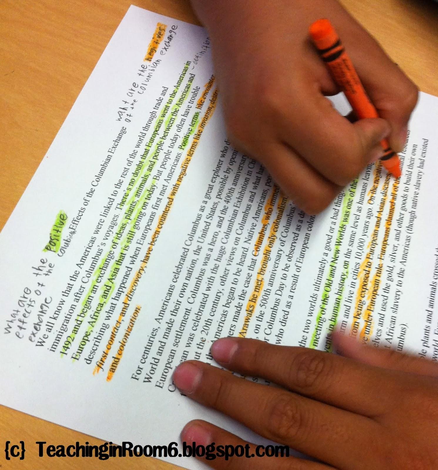 3 paragraph essay columbian exchange