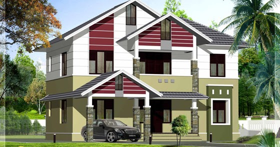 2200 Sq Ft Simple Stylish House Kerala Home Design