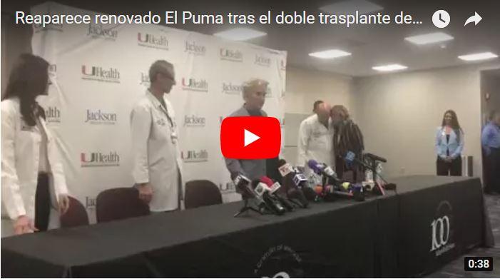Reaparece renovado El Puma tras el doble trasplante de pulmón