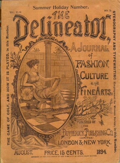 Copy of Delineator Magazine Cover from August 1894