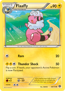 Flaaffy Steam Siege Pokemon Card