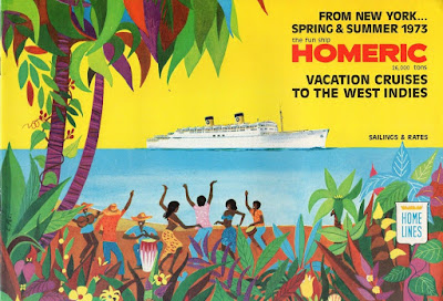 Final Cruise Brochure for Home Line's Famous Homeric of 1955