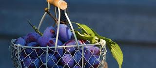 Marinated plums