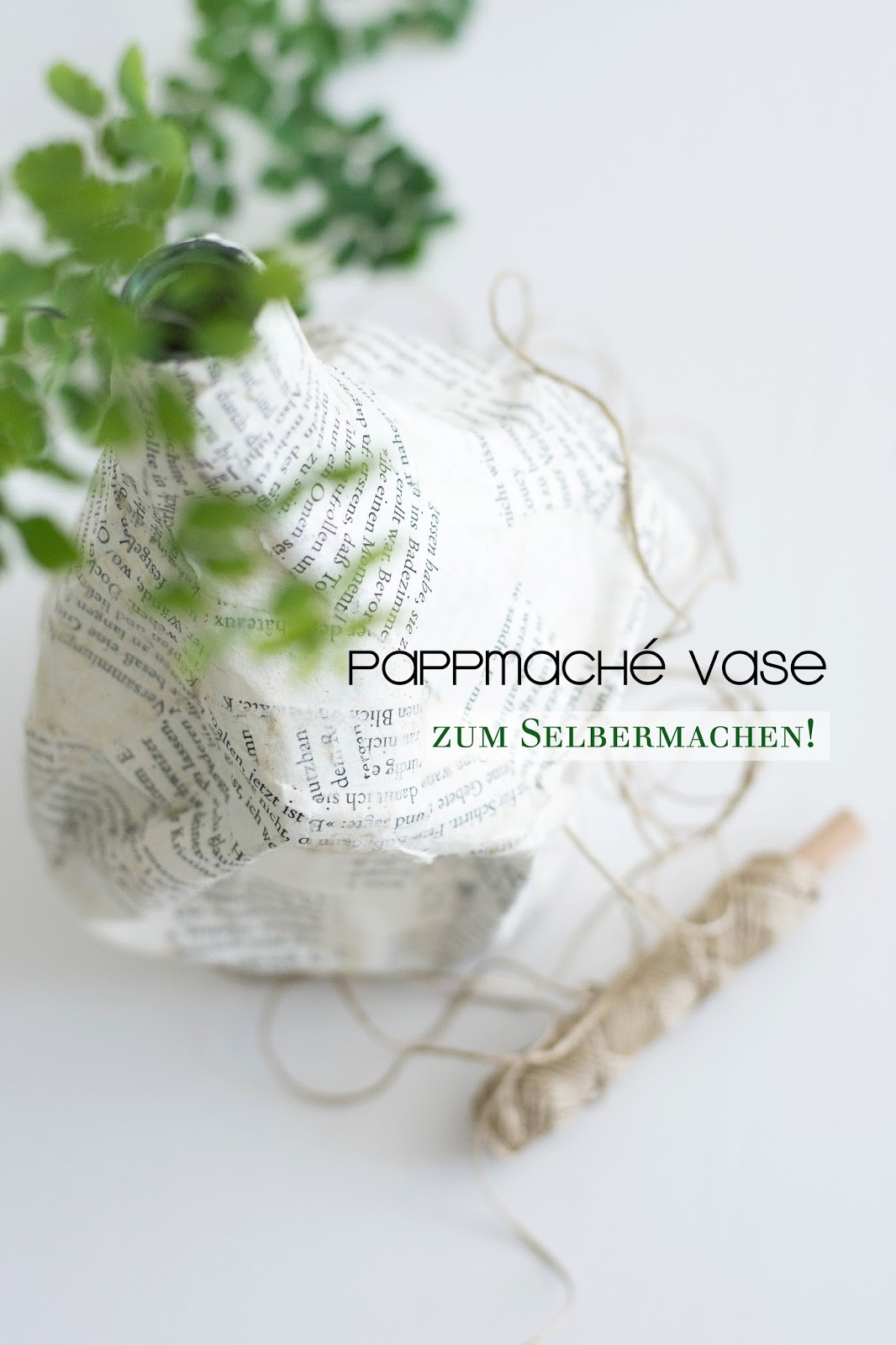 DIY Pappmaché Vasen