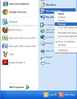 Access Computer Management Windows XP