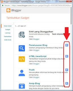 Cara Menambahkan Dan Memasang Widget Pada Blog