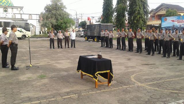 40 Bintara Polri SPN Betung Berkunjung Ke Polres Muba