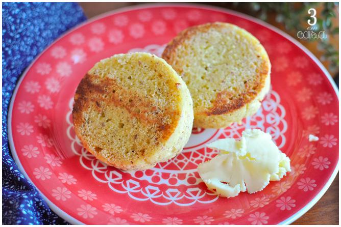 receita pão low carb microondas