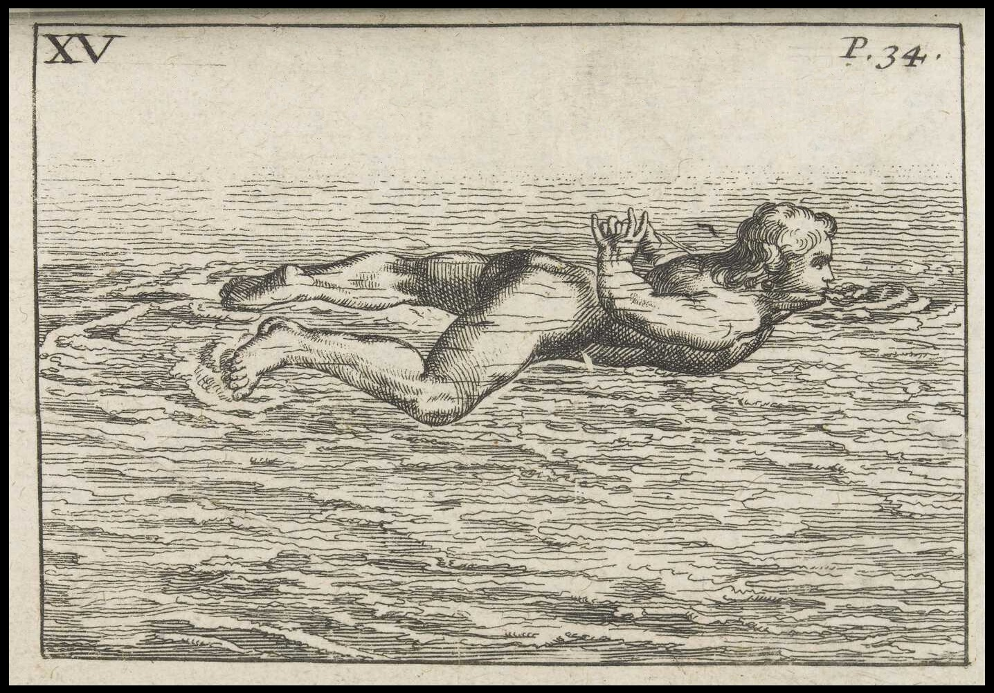 early modern swimming manual - technique illustration