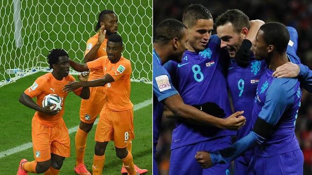Holanda vs Costa de Marfil en vivo