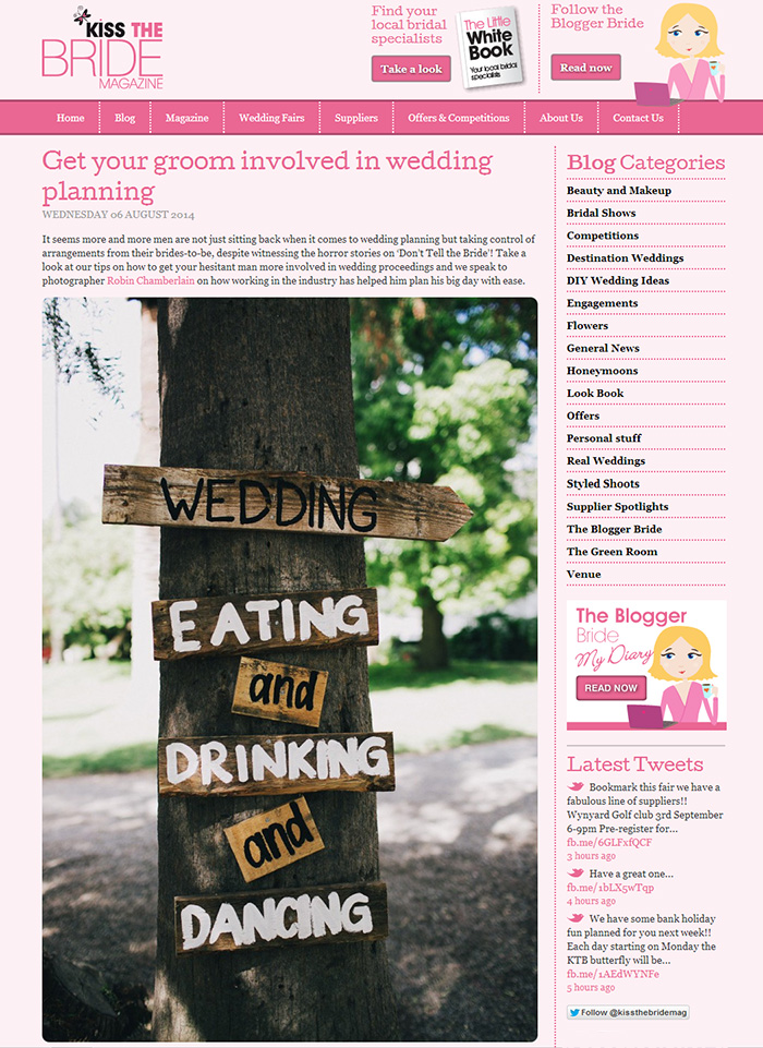 Getting your groom involved in wedding planning