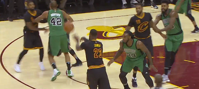 LeBron James & Al Horford Trade Blocks in Cleveland! (VIDEO)