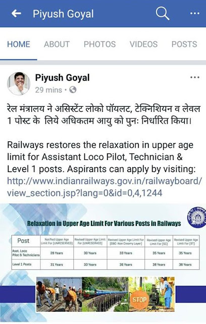 RRB Railway ALP and Technician Age Limit Increased to 31 years Officially