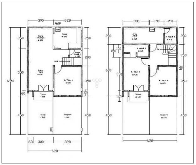rumah minimalis cat abu abu terbaru denah rumah type 100
