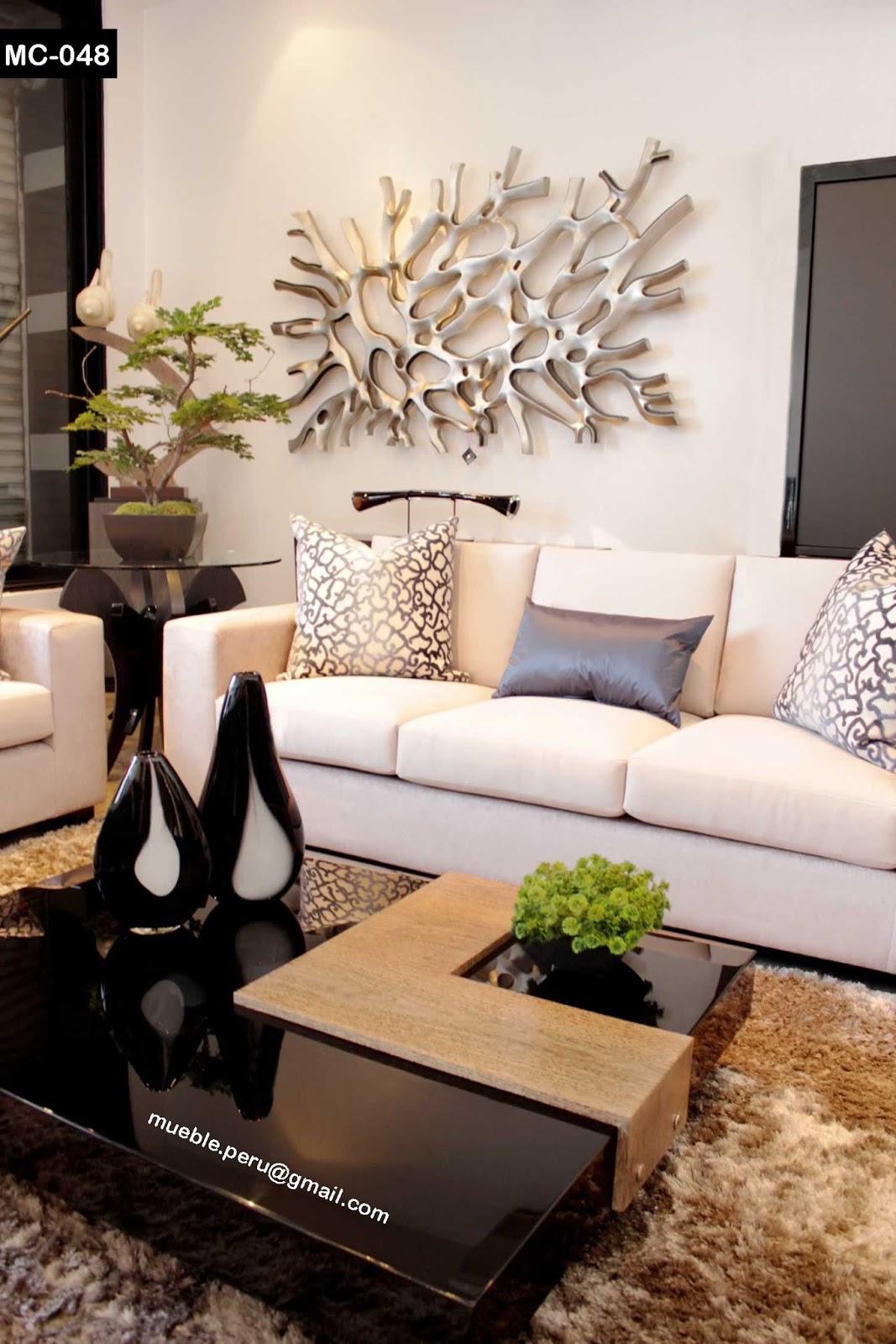 Mueble Sala Moderno Salas Modernas Con Muebles De Tv Centro  # Muebles Seccionales En Miami