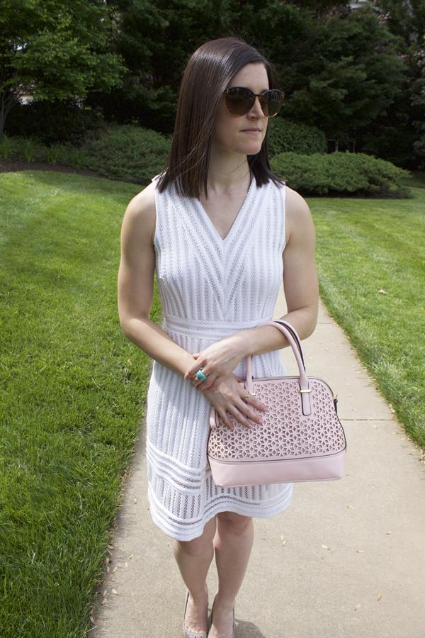Pusha t white dress to ear