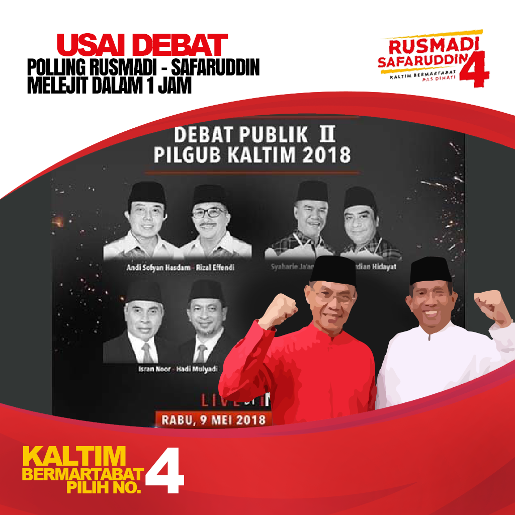 Usai Debat Polling Rusmadi - Safaruddin Melejit Dalam 1 Jam