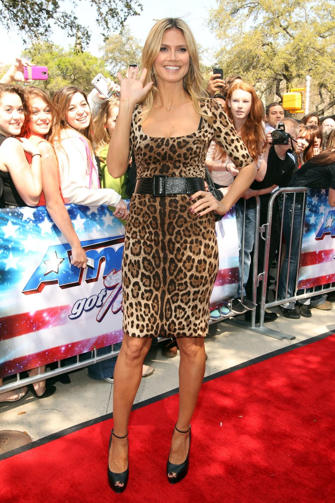 Heidi Klum Heidi Klum At America S Got Talent In San