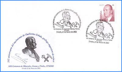 Sobre con matasellos de Guillermo Schulz, Oviedo 2002