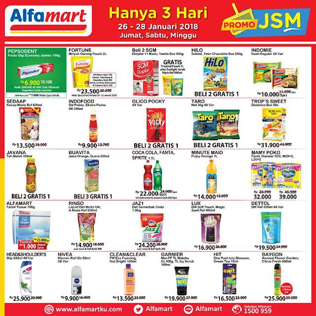 Katalog Promo JSM ALFAMART Akhir Pekan Weekend Periode 26 - 28 Januari 2018
