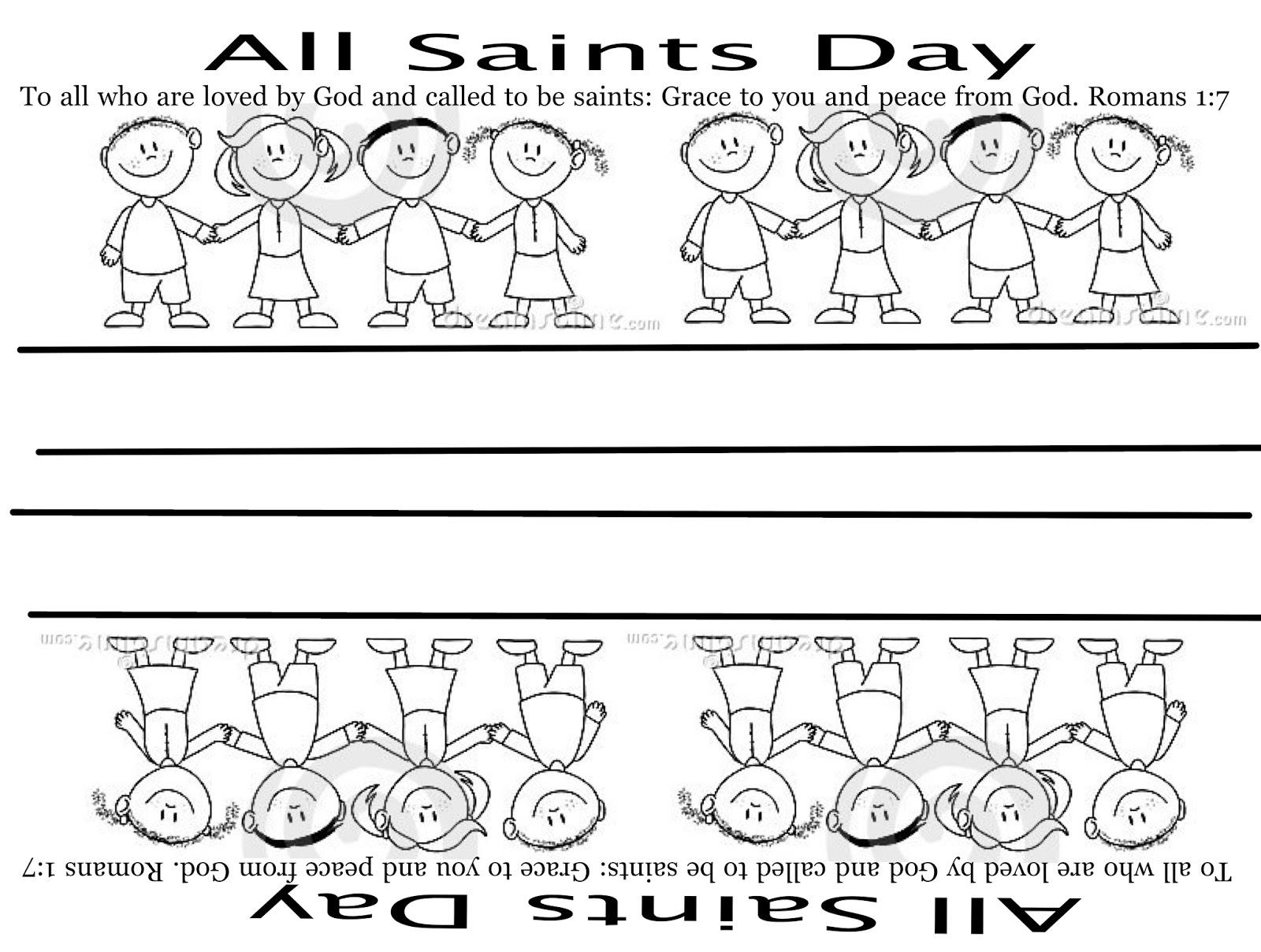 Sunday School Fun All Saints Day