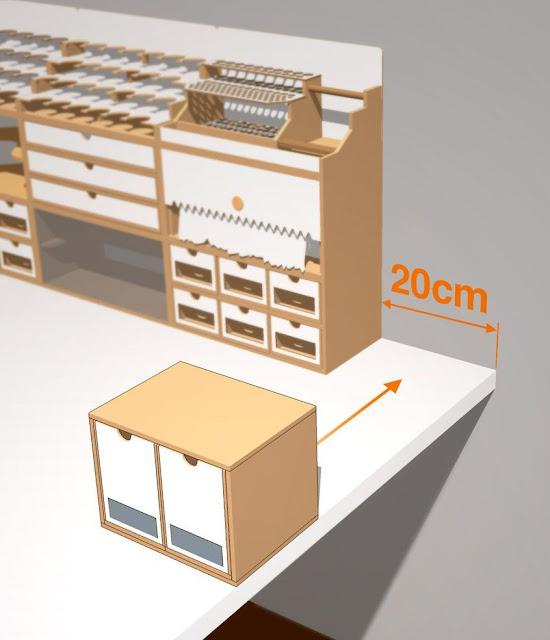 New Hobbyzone 20cm 2 Drawer Module