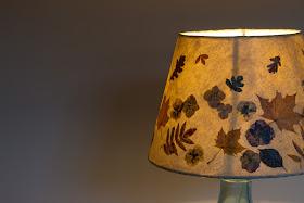 Autumn leaf  lampshade
